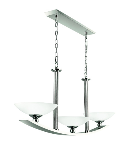 Kichler Lighting Palla 3 Light Island Light in Polished Nickel 42007PN