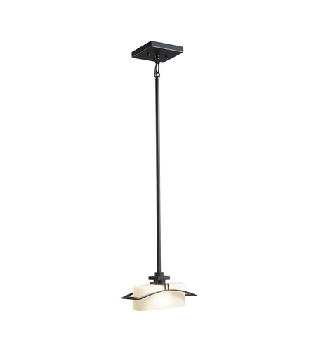 Kichler Lighting Suspension 1 Light Mini Pendant in Black (Painted) 42016BK