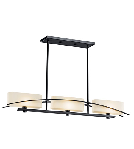 Kichler Lighting Suspension 3 Light Chandelier in Black (Painted) 42017BK