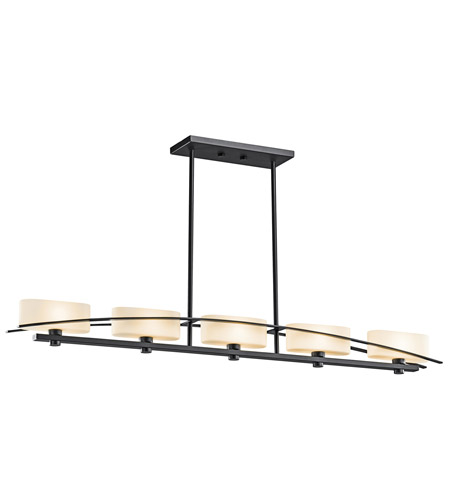 Kichler 42018BK Suspension 5 Light 4 inch Black Chandelier Ceiling Light photo
