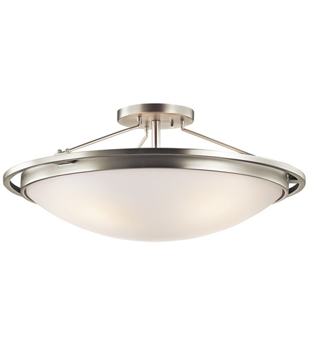 Kichler 42025NI Signature 4 Light 23 inch Brushed Nickel Semi-Flush Ceiling Light photo