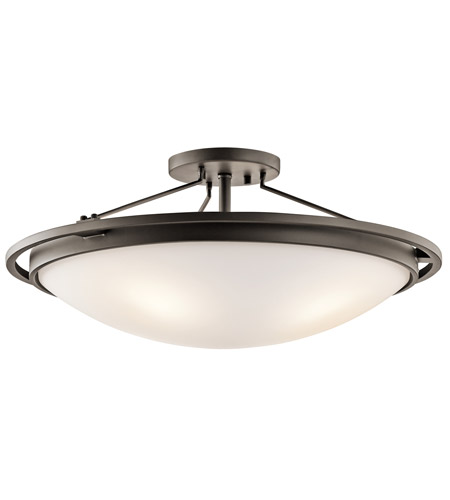 Kichler 42025OZ Signature 4 Light 23 inch Olde Bronze Semi-Flush Ceiling Light photo