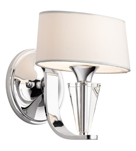 Kichler Lighting Crystal Persuasion 1 Light Wall Sconce in Chrome 42028CH