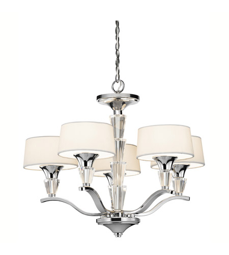 Kichler 42029CH Crystal Persuasion 5 Light 17 inch Chrome Mini Chandelier Ceiling Light photo