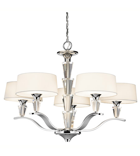Kichler Lighting Crystal Persuasion 5 Light Chandelier in Chrome 42030CH photo