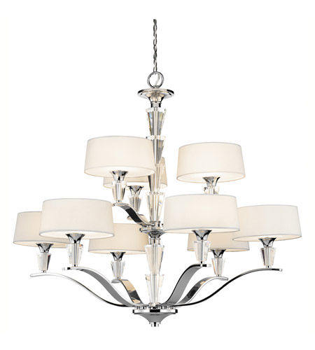 Kichler Lighting Crystal Persuasion 9 Light Chandelier in Chrome 42031CH photo