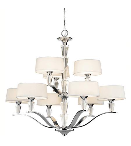 Kichler 42031ch Crystal Persuasion 9 Light 37 Inch Chrome Chandelier Ceiling