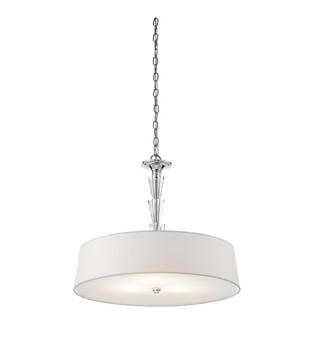 Kichler 42034CH Crystal Persuasion 3 Light 24 inch Chrome Pendant Ceiling Light photo