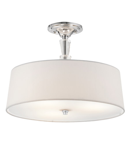Kichler 42035CH Crystal Persuasion 3 Light 15 inch Chrome Semi-Flush Ceiling Light photo