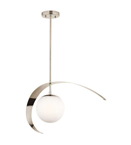 Kichler Lighting Escala 1 Light Pendant in Polished Nickel 42036PN