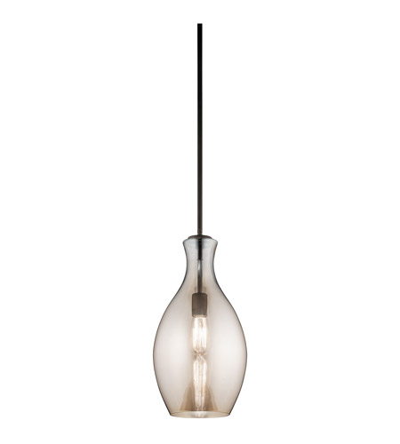 Kichler Everly 1 Light Pendant in Olde Bronze 42047OZCP