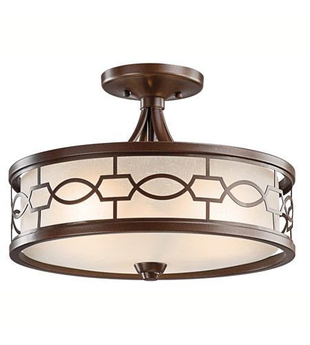 Kichler Lighting Punctuation 3 Light Semi-Flush in Mission Bronze 42051MIZ photo