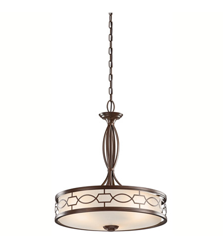 Kichler Lighting Punctuation 3 Light Pendant in Mission Bronze 42052MIZ