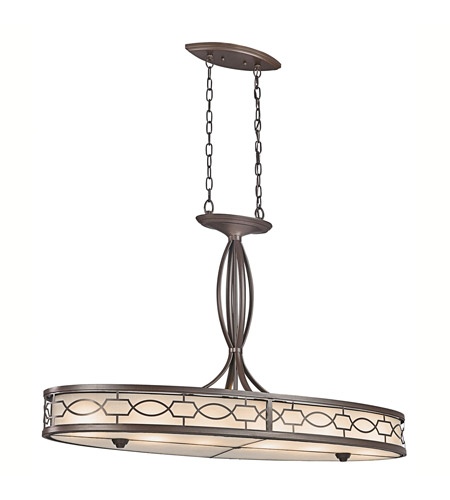 Kichler Lighting Punctuation 6 Light Chandelier in Mission Bronze 42054MIZ photo