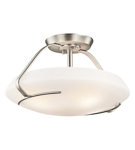 Kichler Lighting Signature 4 Light Semi-Flush in Brushed Nickel 42063NI