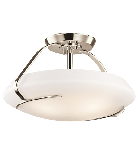 Kichler Lighting Signature 4 Light Semi-Flush in Polished Nickel 42063PN