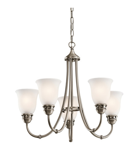 Kichler Lighting Durham 5 Light Chandelier in Antique Pewter 42064AP photo