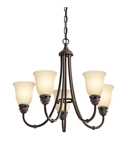 Kichler 42064OZ Durham 5 Light 24 inch Olde Bronze Chandelier Ceiling Light photo