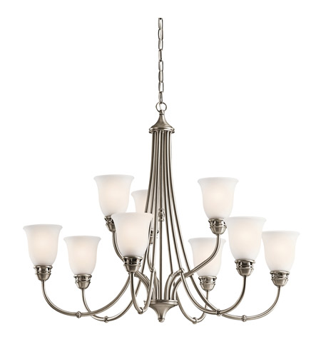 Kichler 42066AP Durham 9 Light 34 inch Antique Pewter Chandelier Ceiling Light photo