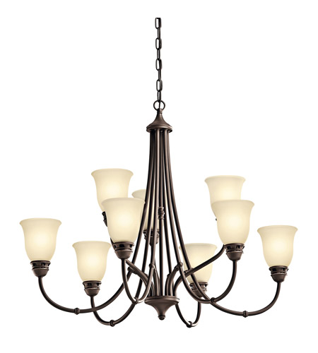 Kichler Lighting Durham 9 Light Chandelier in Olde Bronze 42066OZ photo