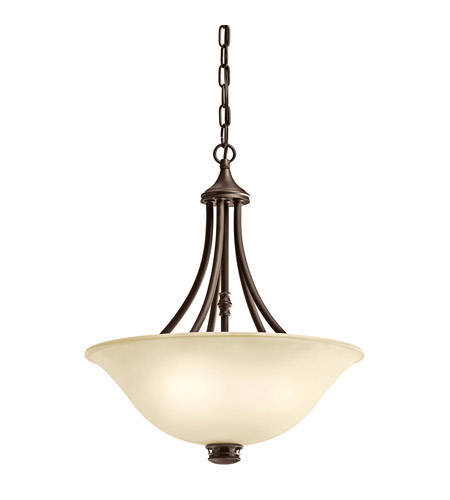 Kichler Lighting Durham 3 Light Inverted Pendant in Olde Bronze 42067OZ photo