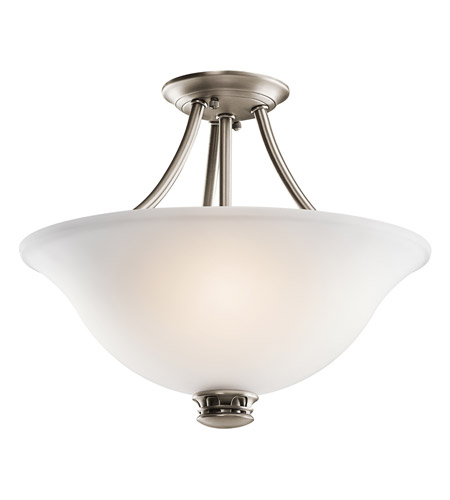 Kichler Lighting Durham 2 Light Semi-Flush in Antique Pewter 42070AP photo