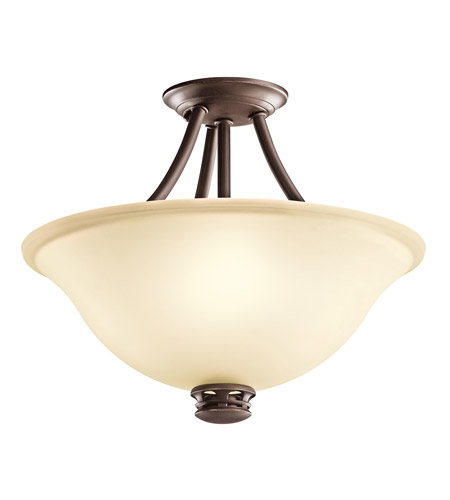 Kichler Lighting Durham 2 Light Semi-Flush in Olde Bronze 42070OZ