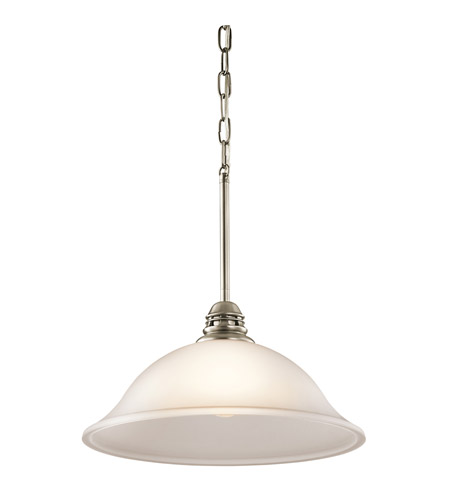 Kichler 42071AP Durham 1 Light 15 inch Antique Pewter Pendant Ceiling Light in Satin Etched Glass photo