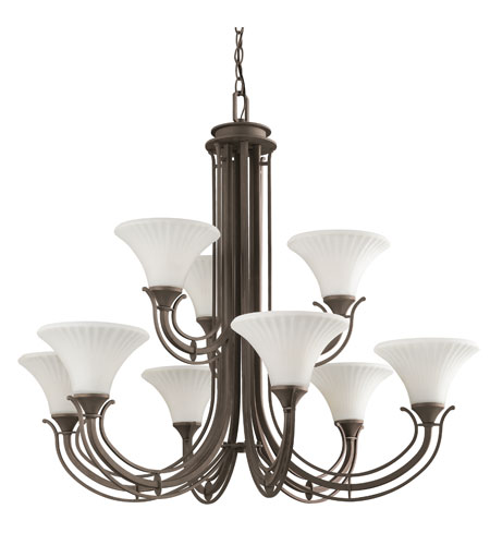 Kichler Lighting Parsons 9 Light Chandelier in Olde Bronze 42077OZ