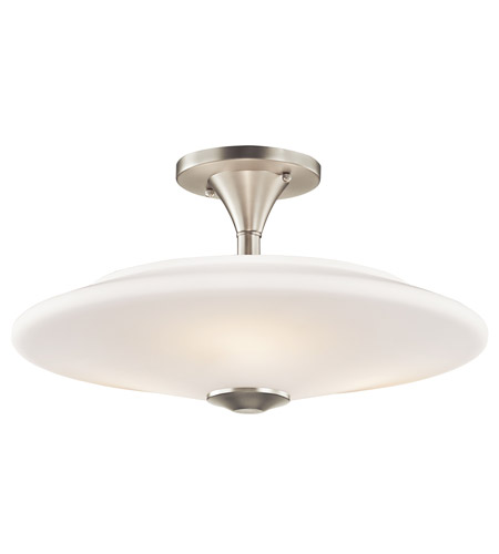 Kichler Lighting Signature 3 Light Semi-Flush in Brushed Nickel 42079NI