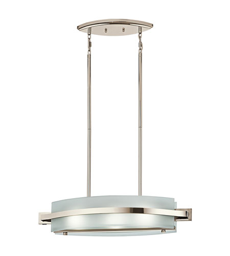 Kichler Lighting Freeport 3 Light Island Light in Polished Nickel 42090PN photo