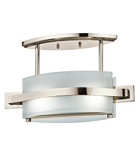 Kichler Lighting Freeport 2 Light Semi-Flush in Polished Nickel 42092PN