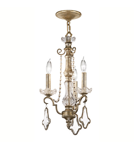 Kichler Lighting Gracie 3 Light Mini Chandelier in Sunrise Mist 42114SRM photo