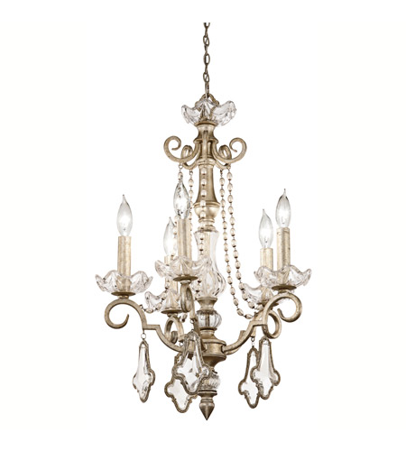 Kichler Lighting Gracie 5 Light Chandelier in Sunrise Mist 42115SRM photo