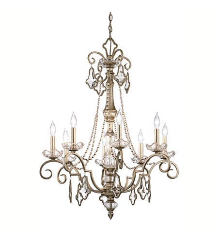 Kichler Lighting Gracie 8 Light Chandelier in Sunrise Mist 42116SRM photo