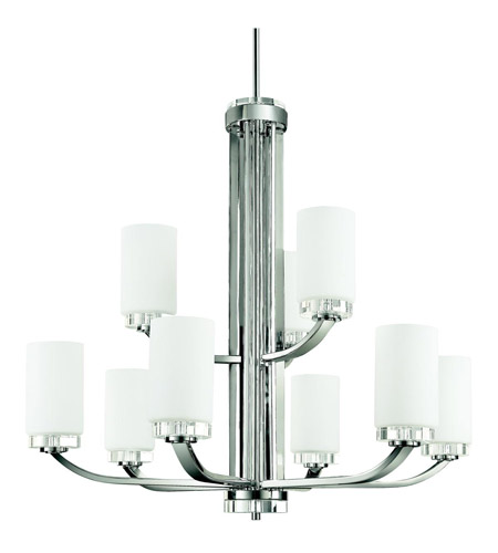 Kichler Lighting Reynes 9 Light Chandelier in Chrome 42119CH photo