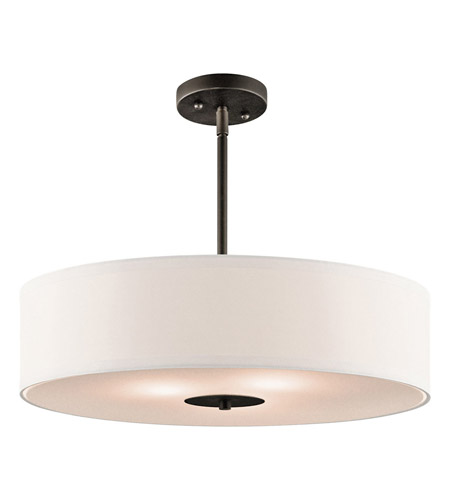 Kichler 42121OZ Signature 3 Light 20 inch Olde Bronze Pendant Convertible Semi-Flush Ceiling Light photo