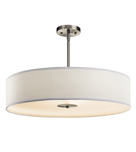 Kichler 42122NI Signature 3 Light 24 inch Brushed Nickel Pendant Convertible Semi-Flush Ceiling Light photo
