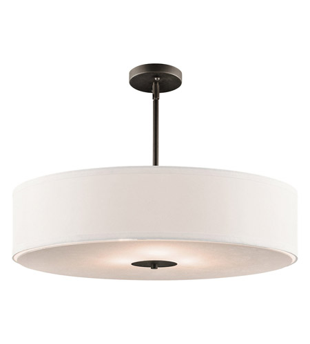 Kichler 42122OZ Signature 3 Light 24 inch Olde Bronze Pendant Convertible Semi-Flush Ceiling Light photo