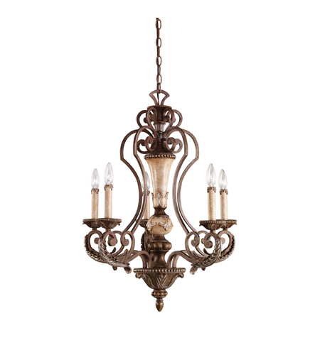 Kichler Lighting Sabrina 5 Light Chandelier in Lincoln Bronze 42127LBZ photo