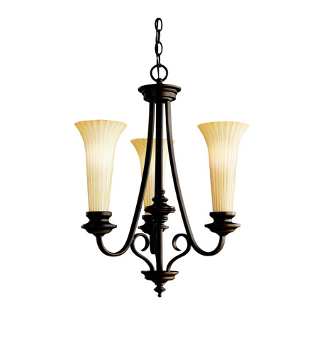 Kichler Lighting Abbeyville 3 Light Chandelier in Olde Bronze 42150OZ photo