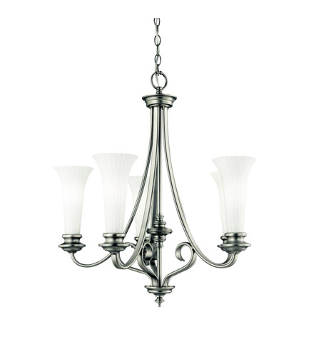 Kichler Lighting Abbeyville 5 Light Chandelier in Brushed Pewter 42151BPT photo