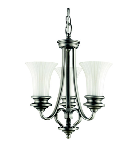 Kichler Lighting Abbeyville 3 Light Mini Chandelier in Brushed Pewter 42152BPT