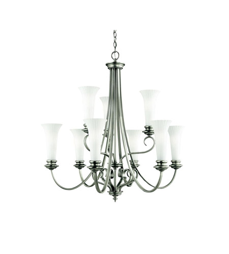 Kichler Lighting Abbeyville 9 Light Chandelier in Brushed Pewter 42153BPT photo