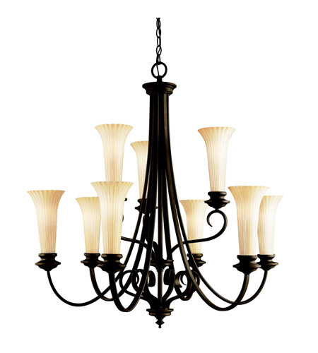 Kichler Lighting Abbeyville 9 Light Chandelier in Olde Bronze 42153OZ photo
