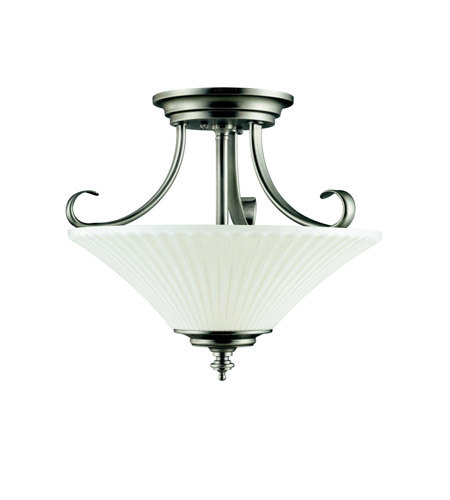 Kichler Lighting Abbeyville 3 Light Semi-Flush in Brushed Pewter 42155BPT photo