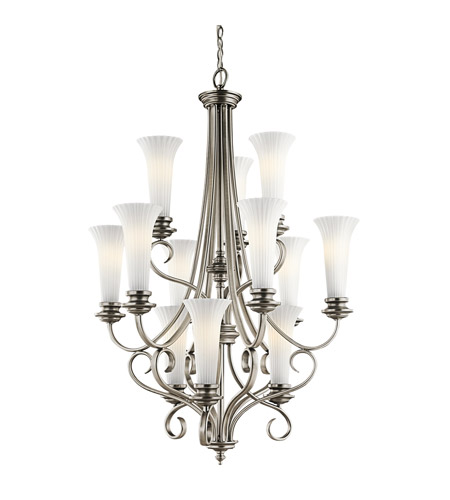 Kichler Lighting Abbeyville 12 Light Chandelier in Brushed Pewter 42156BPT photo