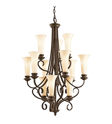 Kichler Lighting Abbeyville 12 Light Chandelier in Olde Bronze 42156OZ photo