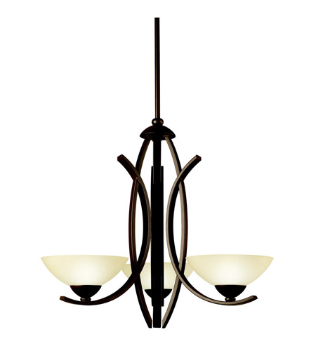 Kichler Lighting Bellamy 3 Light Chandelier in Olde Bronze 42158OZ photo