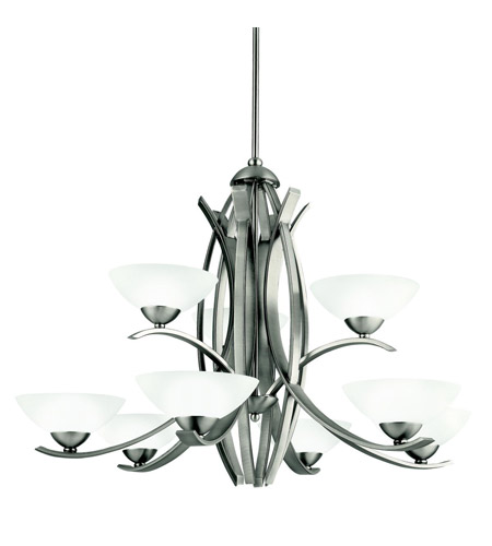 Kichler Lighting Bellamy 9 Light Chandelier in Antique Pewter 42160AP photo